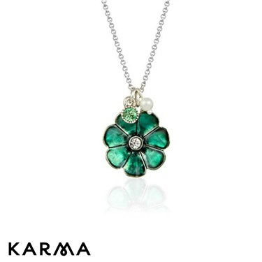 Karma Concern Enamel Flower Necklace