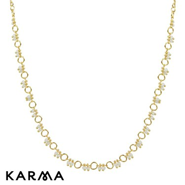 Karma Circle Link Chain Necklace