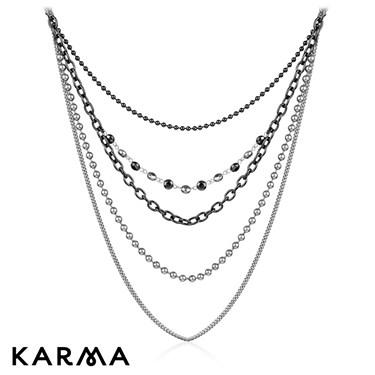 Karma Multi Strand Bead Necklace