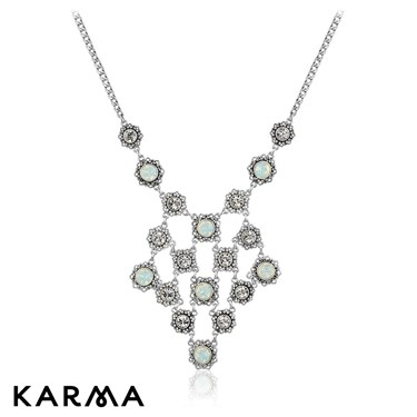 Karma Opal and Crystal Necklace