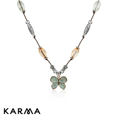 Karma Beaded Butterfly Necklace