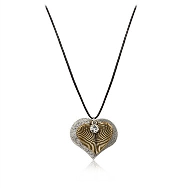 Karma Leaf Heart Necklace