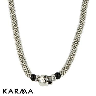 Karma Skull Snake Chain Necklace