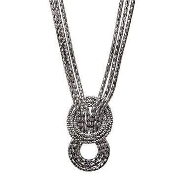 Karma Gunmetal Knot Necklace