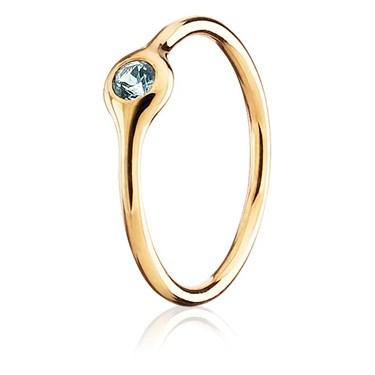 Pandora One Pod Aqua Topaz Ring