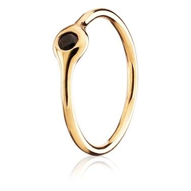 Pandora One Pod Black Spinel Ring