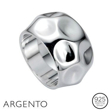 Argento Chunky Dimpled Ring