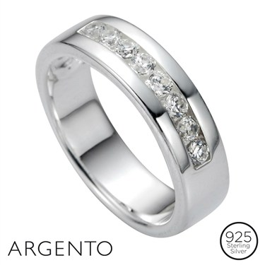 Argento Cubic Zirconia Set Ring