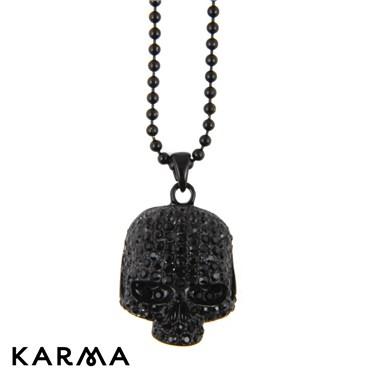 Karma Black Skull Necklace