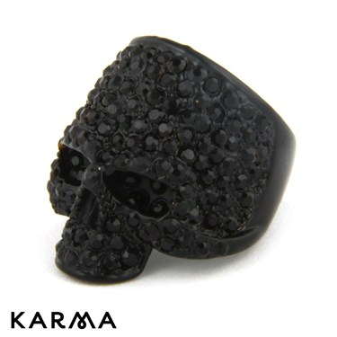 Karma Black Skull Ring