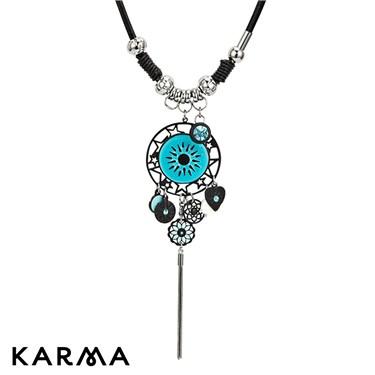 Karma Circle Drop Necklace
