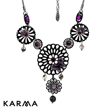 Karma Filigree Flower Necklace