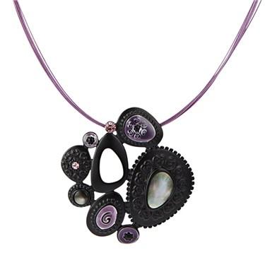 Karma Oval Cluster Strand Necklace