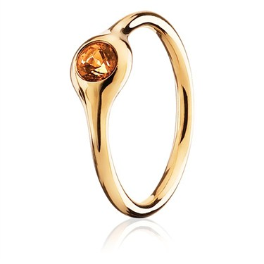 Pandora One Pod Gold Citrine Ring