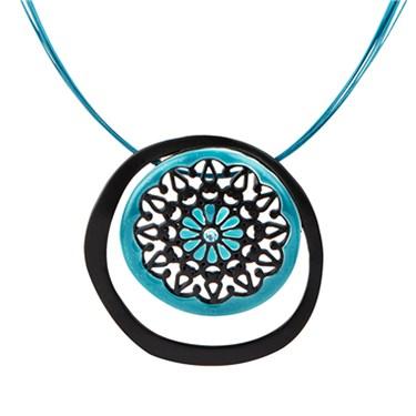Karma Ethnic Circle Necklace
