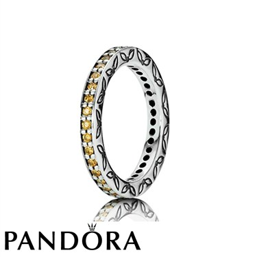 Pandora Amber Zirconia Eternity Ring