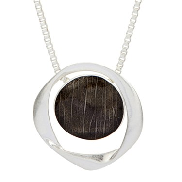 Karma Black Twisted Circle Necklace