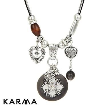 Karma Ethnic Drop Necklace