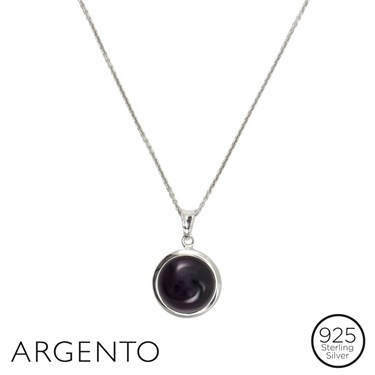 Argento Plum Glass Necklace