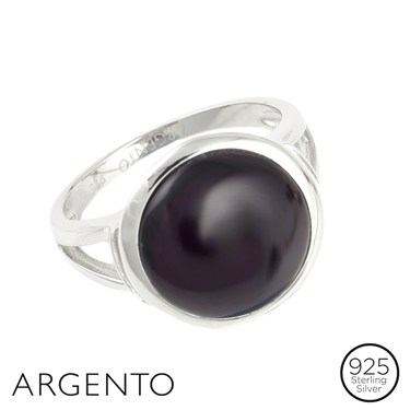 Argento Plum Glass Ring