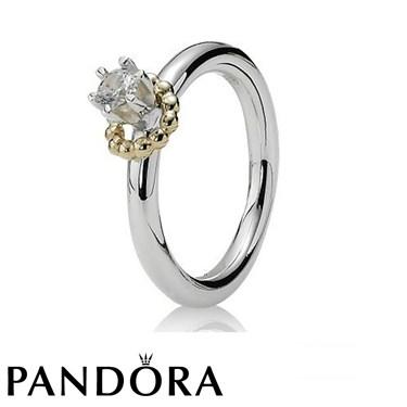 Pandora Clear Cubic Zirconia Gold Wreath Ring