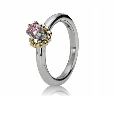 Pandora Pink Cubic Zirconia Gold Wreath Ring