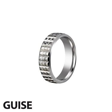 Guise Bevelled Titanium Ring