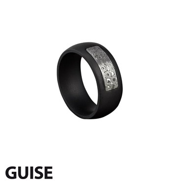 Guise Blackened Steel Ring
