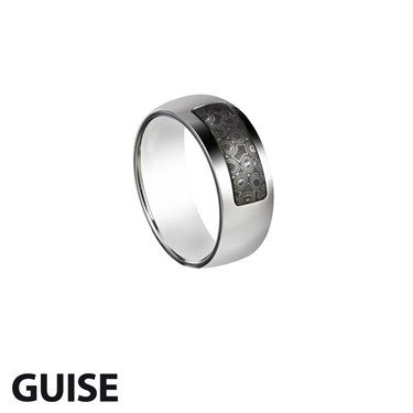 Guise Polished Steel Ring