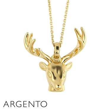 Argento Gold Stag Necklace