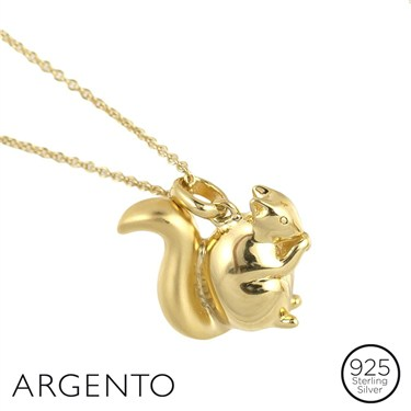 Argento Gold Squirrel Necklace