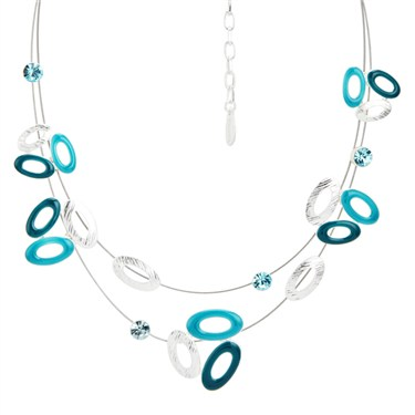 Karma Turquoise Cluster Layer Oval Necklace