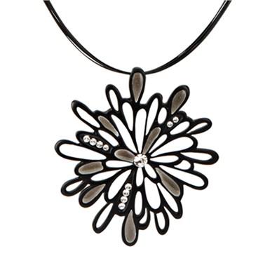 Karma White Flower Drop Strand Necklace
