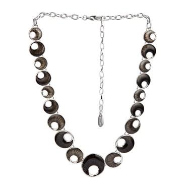 Karma Black Crescent Necklace