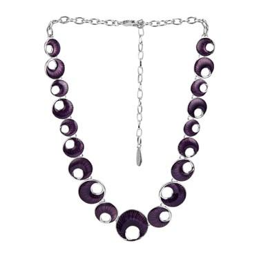 Karma Purple Crescent Necklace