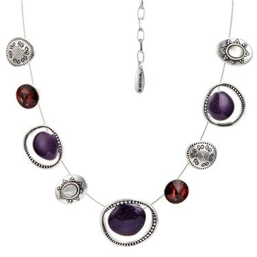 Karma Purple Ethnic Strand Necklace