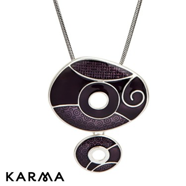 Karma Purple Drop Circles Necklace