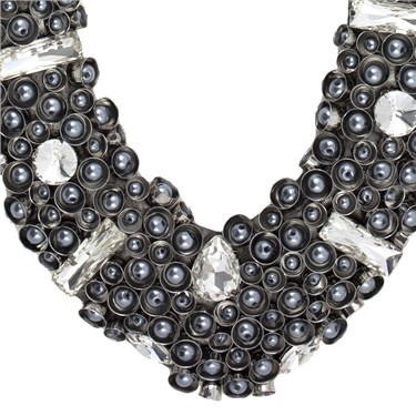 Karma Pearl Collar Necklace