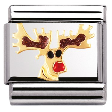 Nomination Reindeer Charm  - Click to view larger image