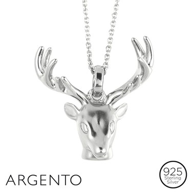Argento Silver Stag Necklace