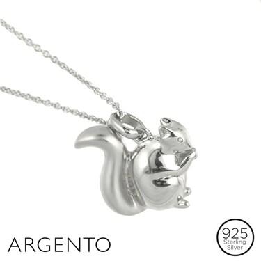 Argento Silver Squirrel Necklace