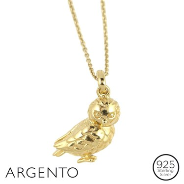 Argento Gold Owl Necklace
