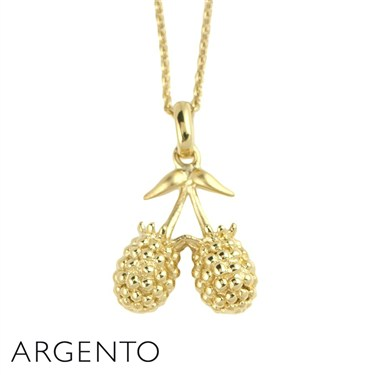 Argento Gold Raspberries Necklace
