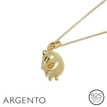 Argento Gold Field Mouse Necklace