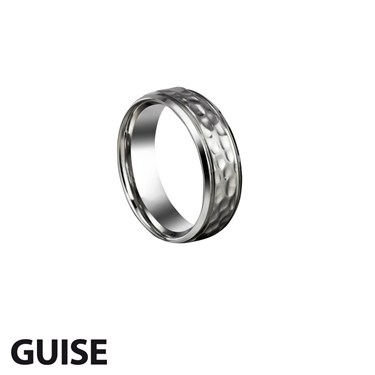 Guise Textured Steel Ring