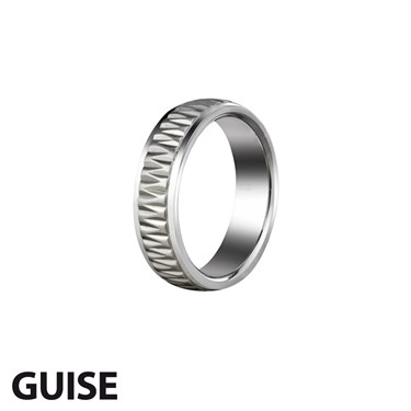 Guise Embossed Steel Ring