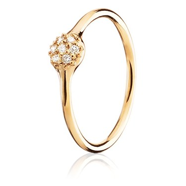 Pandora One Pod Gold Pave Ring