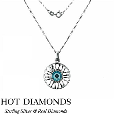 Hot Diamonds Sundial Aqua Necklace