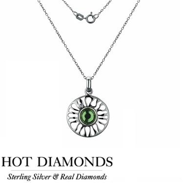 Hot Diamonds Sundial Peridot Necklace