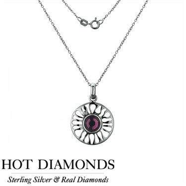 Hot Diamonds Sundial Amethyst Necklace